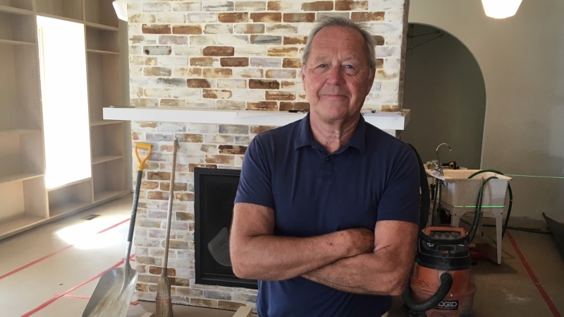 """Richard Peddle former president and CEO of Maple Leaf Sports and Entertainment inside soon to be """"River Bookshop"""" in Amherstburg, Ont. on Friday, July 24 2020 (Chris Campbell/CTV Windsor)"""