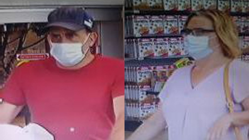 Police are looking to identify these people in relation to a theft (Supplied: Waterloo Regional Police Service)