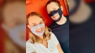 Western University students Taylor Bardell and Matt Urichuk started The Smile Masks Project, creating lip-reading friendly masks during the pandemic. (Kimberley Johnson/CTV News Ottawa)