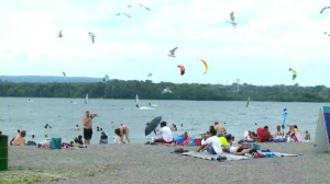 Ottawa residents hit the beach on the hottest July 26 in Ottawa history.