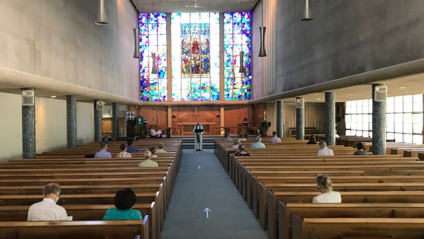 St. George's Anglican Church is starting in-person services now that Phase 4 of reopening is underway.