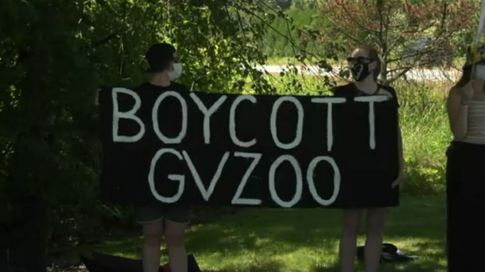 Greater Vancouver Zoo protest