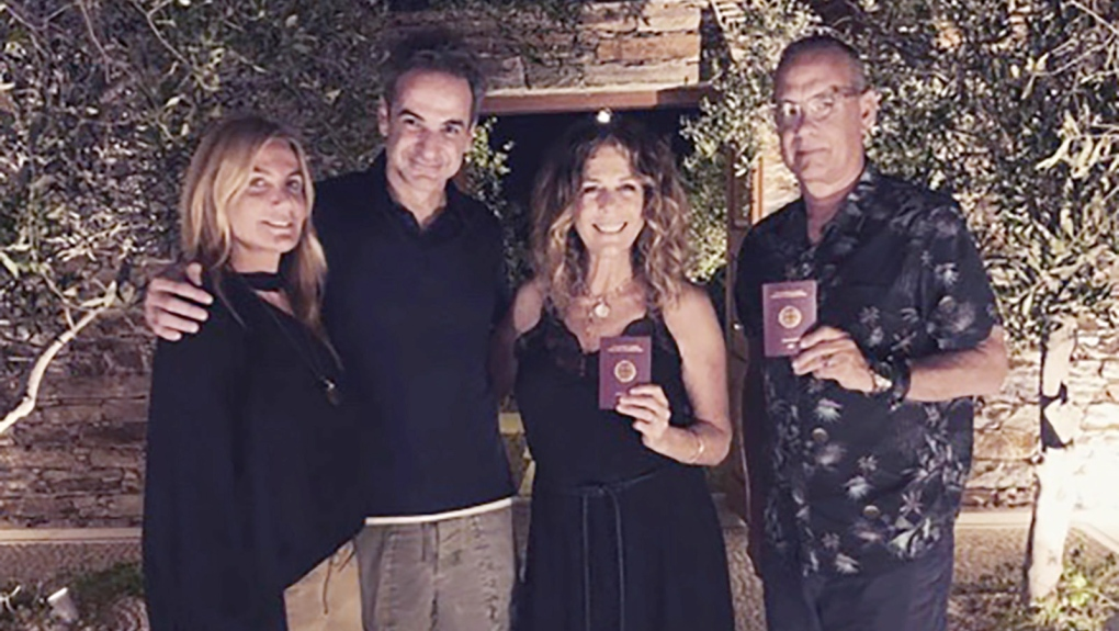 Tom Hanks and Rita Wilson have become citizens of Greece