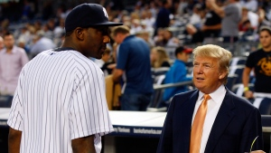 U.S. President Donald Trump said he's postponed his plan to throw out the opening pitch at a New York Yankees game next month, extending his run as the only modern president to not take part in the longstanding tradition. (Mike Stobe/Getty/CNN)