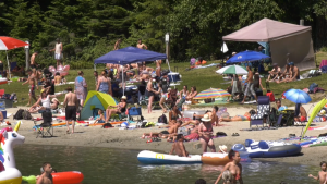 White Pine Beach is seen Sunday, July 26, 2020.