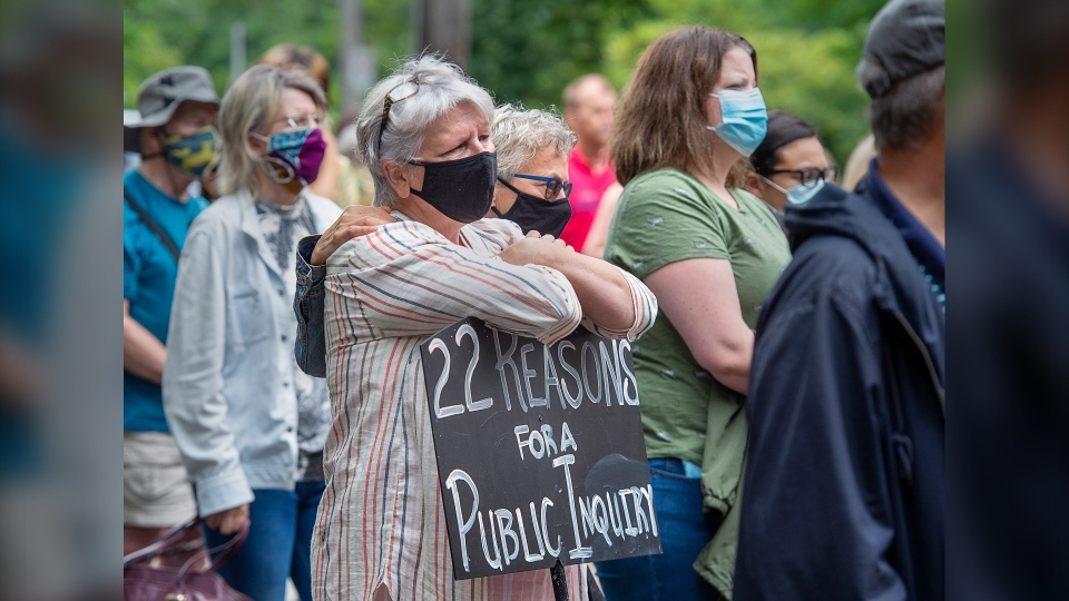 N.S. mass shooting protest