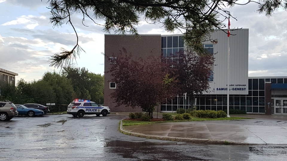 Ottawa Police investigate a suspicious death at Collège catholique Samuel-Genest school at 704 Carsons Rd. on Monday, July 27, 2020.