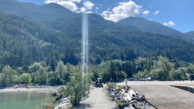 Enjoying a ray of sunshine at Porteau Cove. Submitted in July 2020 by Dennis Amador.