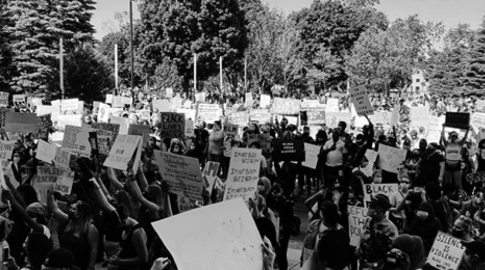 On June 6, Black Lives Matter London held a rally to protest police brutality at Victoria Park. Based on the response through social media, organizers were expecting a significant turnout of around 1,000 people. More than 10,000 people showed up. (Supplied)