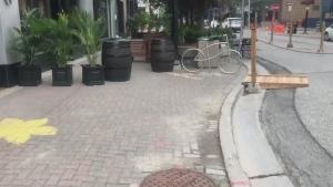 Downtown Sudbury patio