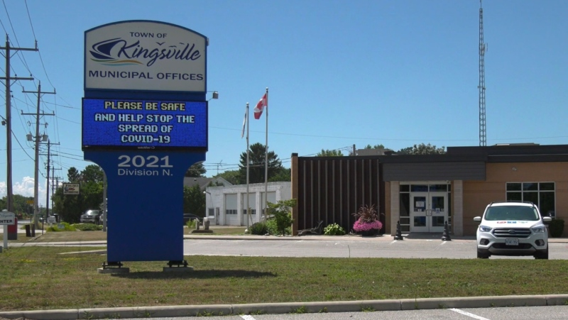 Town Hall in Kingsville, Ont. on Tuesday, July 28 2020. (Chris Campbell/CTV Windsor)