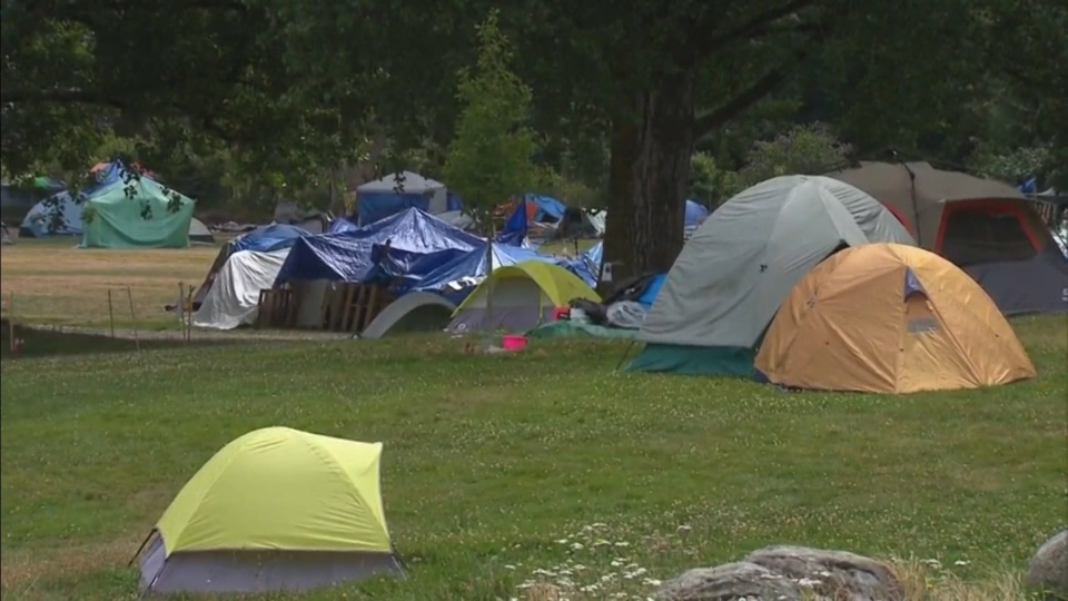 Many of the campers at Strathcona Park have been evicted from previous tent cities around the Downtown Eastside, including Crab Park and Oppenheimer Park.