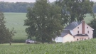 A command post could be seen set up outside of a rural property along Erb's Road, with police tape surrounding the home.