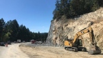 Construction of new highway upgrades along the Trans-Canada Highway near Langford are pictured: (Province of B.C. / Flickr)