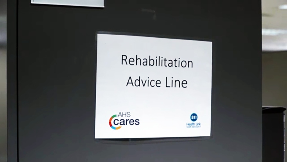 The pandemic has brought about the creation of the AHS Rehabilitation Advice Line, which dispenses remote advice to people with illness and injuries.