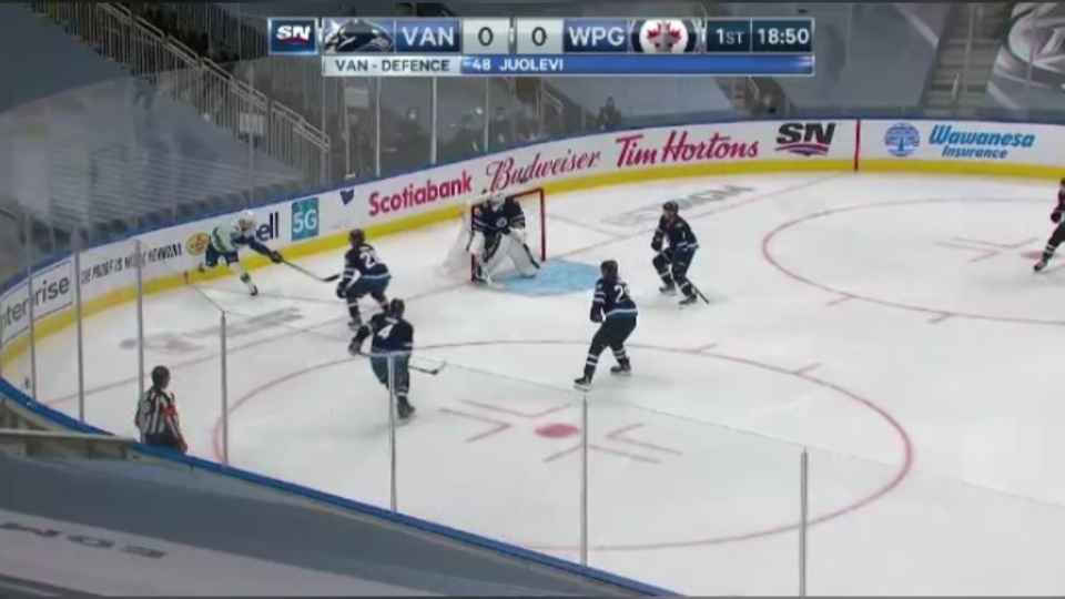 This was the Winnipeg Jets' one and only tune-up game ahead of the playoffs and their first game in the bubble.