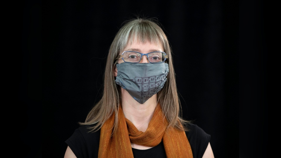 Dr. Deena Hinshaw with a mask on