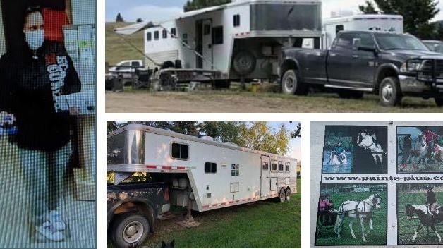 stolen truck, horse trailer