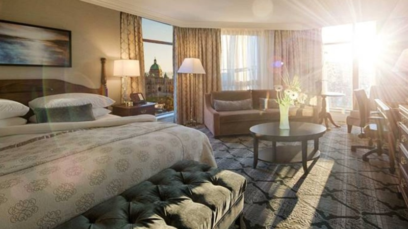 A room at the Magnolia Hotel and Spa in Victoria is shown. (Image credit: Magnolia Hotel & Spa and Roam Travel)