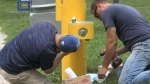 Sudbury turns on water fountain after complaints