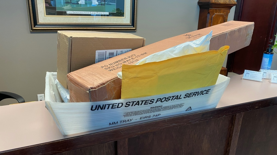 Jennifer King had her lawyer pick up packages from her U.S. PO box. They would have been returned to sender after 30 days because she couldn't pick them up herself.
