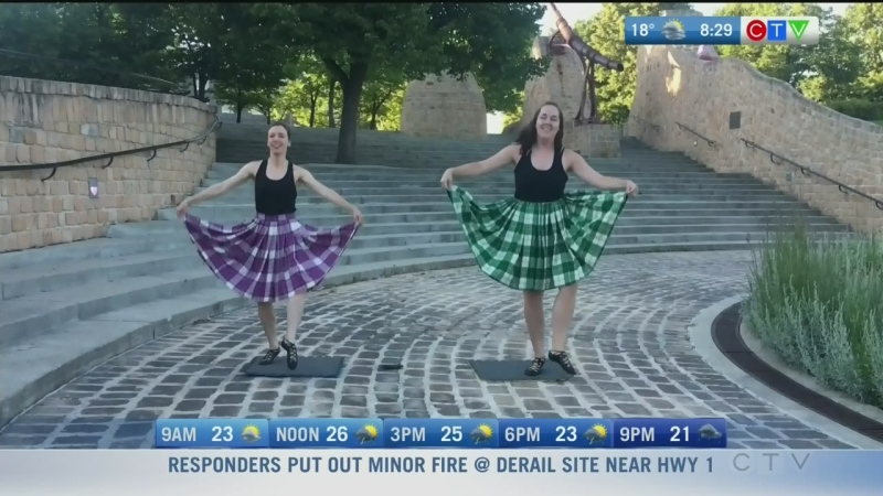 Highland dance community performing virtually