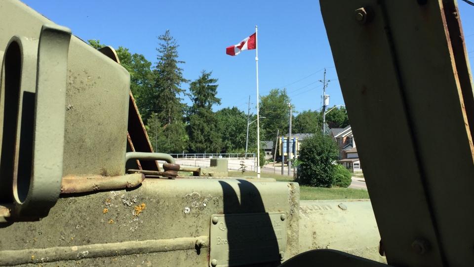 Canadian flag at Ingersoll legion