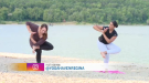 For this week's Fitness Friday we try out some yoga on the beach