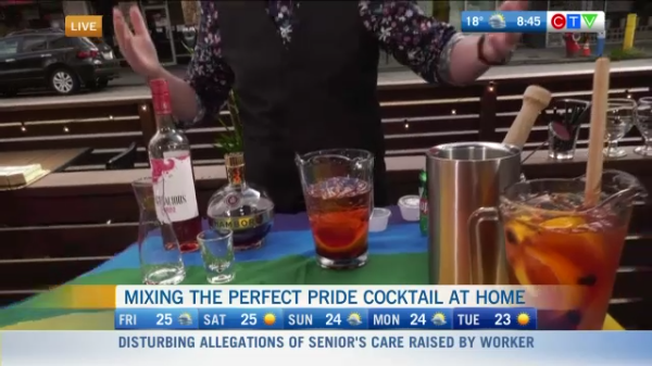 Mixing a Pride Cocktail