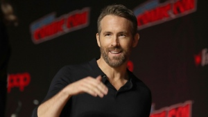 Ryan Reynolds is seen at New York Comic Con, in New York City, Oct. 3, 2019. THE CANADIAN PRESS/AP-Steve Luciano