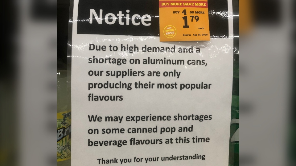 Aluminum can shortage