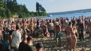 Ads for Third Beach party catch VPD's eye