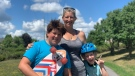 Sonia Festeryga and sons, Cole (left) and William. (Saron Fanel / CTV News Ottawa)