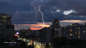 Lightning over Elgin Street. (Joel Laing/CTV Viewer)