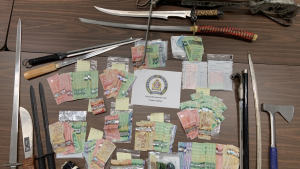 Some of the items seized by police during a drug investigation (Supplied: Guelph Police Service)