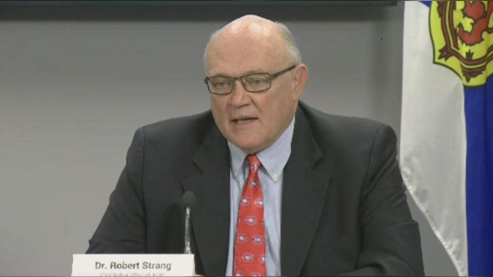 Dr. Robert Strang at press conference July 31 2020