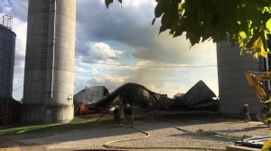 Fire crews respond to a fire on July 31, 2020 (Terry Kelly / CTV News Kitchener)
