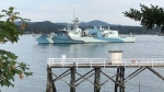 A pair of frigates, HMCS Regina (pictured) and HMCS Winnipeg, will sail past the Victoria area between 4:15 and 5:15 p.m. Thursday, Aug. 6, 2020. (CTV News)
