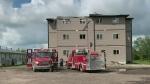 Suspected lightning strike starts apartment fire