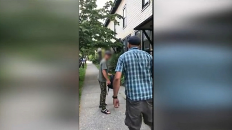 A Vancouver city councillor says instinct kicked when he got into a profanity-laden confrontation with a man who he believed was threatening his neighbour — and who then threatened to stab him.