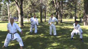 Karate Sensei Chris Troch says he's been taking his special needs class outdoors for the past three years and used that as a model to transition his other classes to the park. Aug. 1/2020 (Christian D'Avino/CTV News Northern Ontario)
