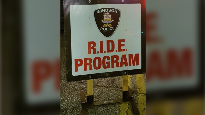 Windsor police conducted three RIDE programs in Windsor, Ont. on Friday, July 31 2020.  (courtesy Windsor police)