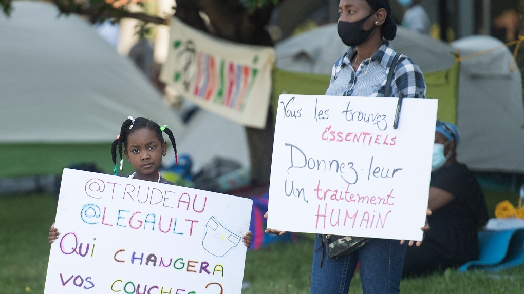 Protesters call for residency for guardian angels