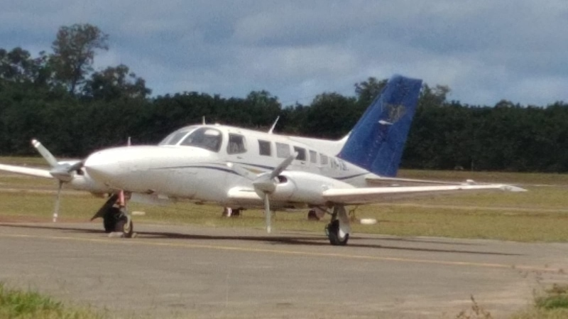 This Cesna aircraft was stuffed with more than 500 kilograms of cocaine. (Australian Federal Police via CNN)