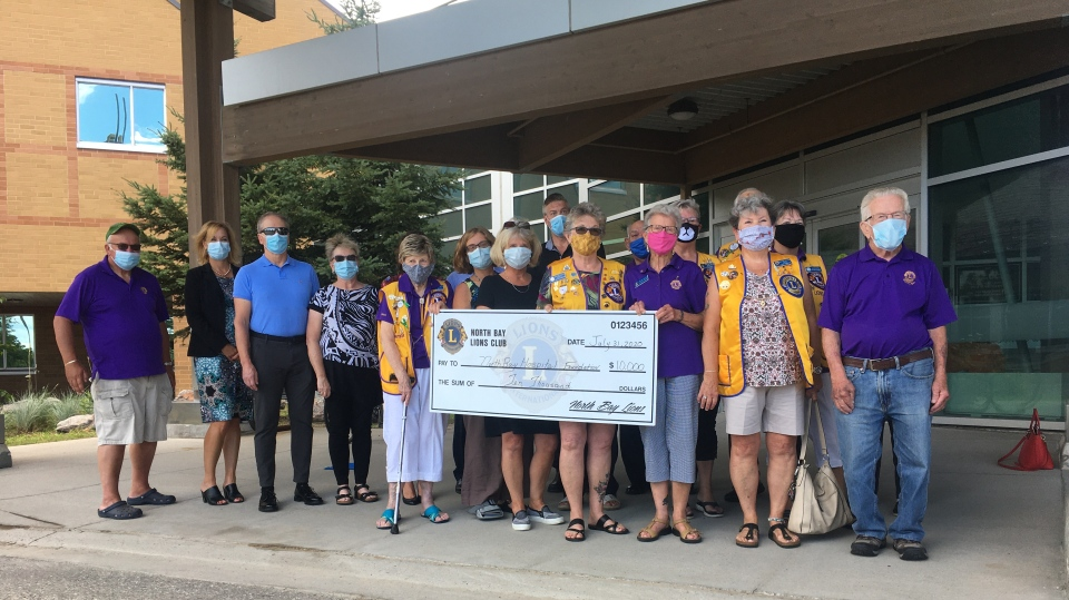 Lion's Club presents $10,000 cheque