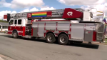 The fire station in Sydney, N.S. has decked out one of its aerial trucks, and ladders in support of Pride Week.