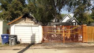 The Saskatoon Fire Department responded to a multi-structure fire in the 300 block of 10th Street East on August 1 (Chad Leroux/CTV Saskatoon)