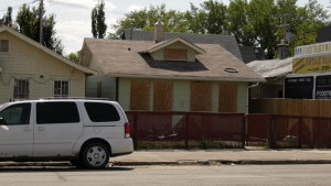 The Saskatoon Fire Department responded to a basement fire in the 800 block of 20th Street West on August 1 that caused about $25,000 in damage (Chad Leroux/CTV Saskatoon)