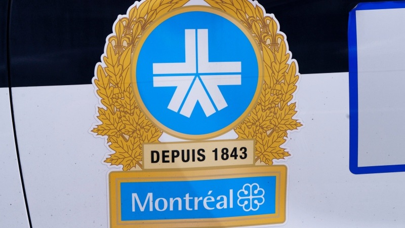 The Montreal Police logo is seen on a police car in Montreal on Wednesday, July 8, 2020. THE CANADIAN PRESS/Paul Chiasson