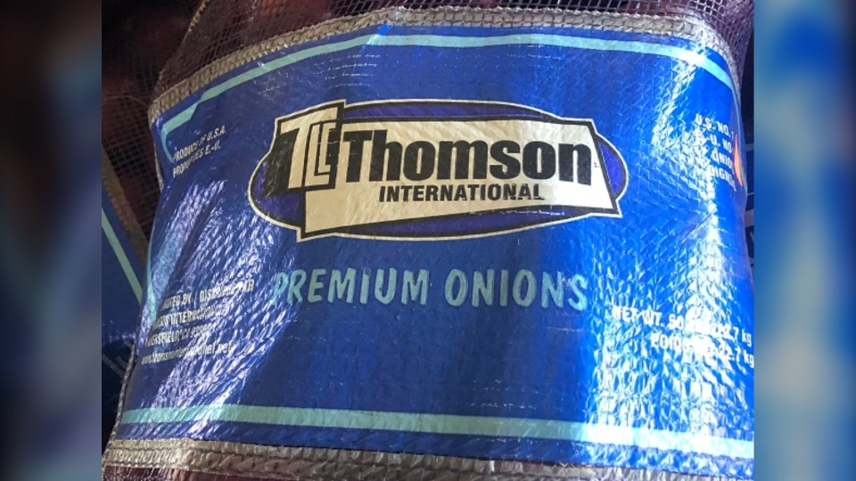 Thompson International Premium onions are pictured. (Canadian Food Inspection Agency)